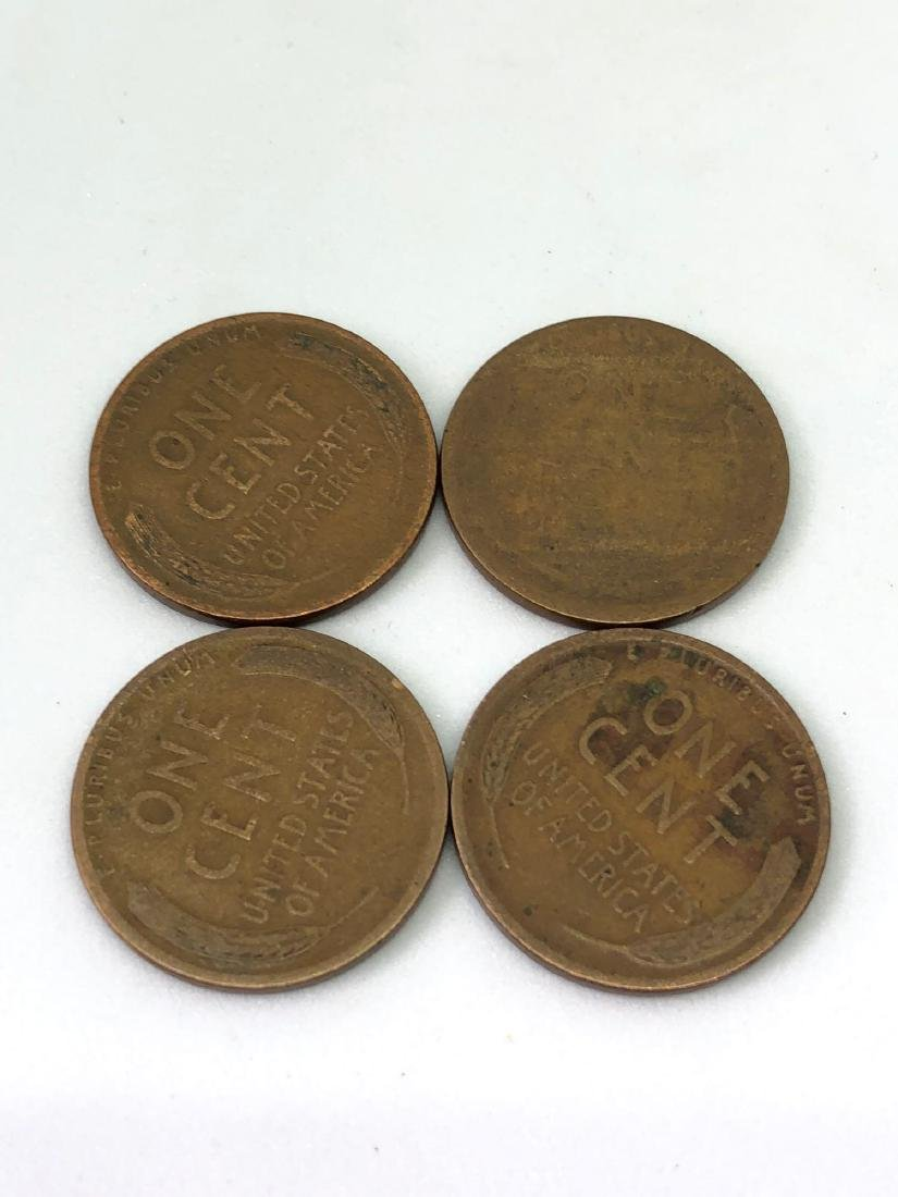 Lot of 4 Wheat Pennies - 2
