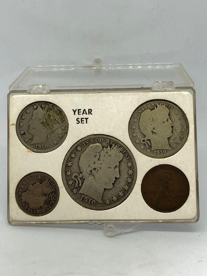Lot of Five 1910 Coins
