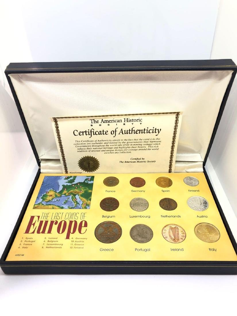 A Last Coins of Europe Set of 12 Coins