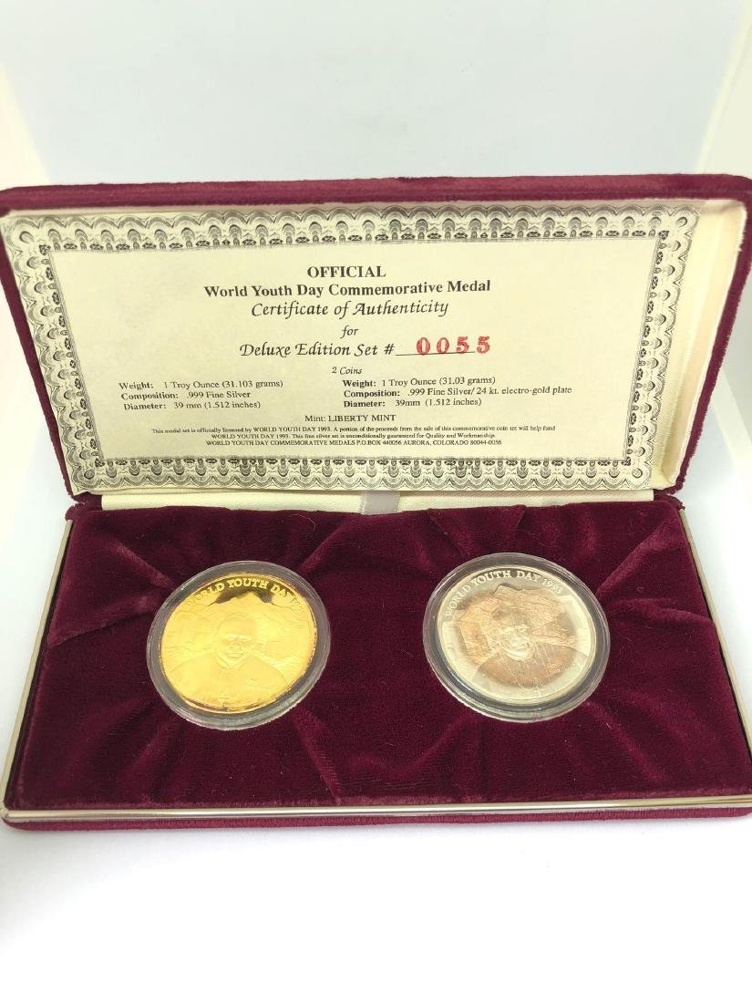 World Youth Day Silver Commemorative Medal Set