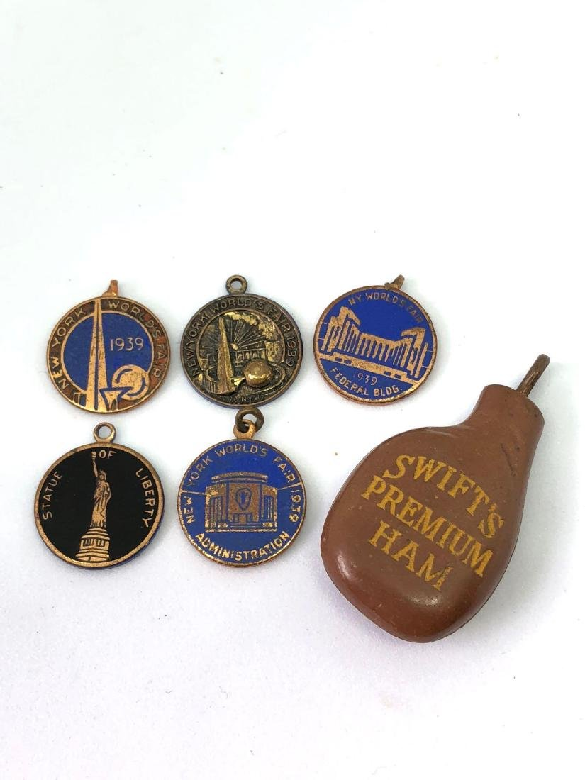 Lot of Six Worlds Fair 1939 Charms
