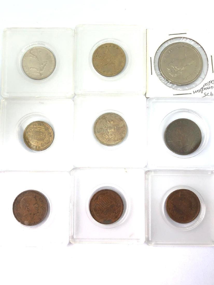 Lot of Nine Vintage Foreign Coins