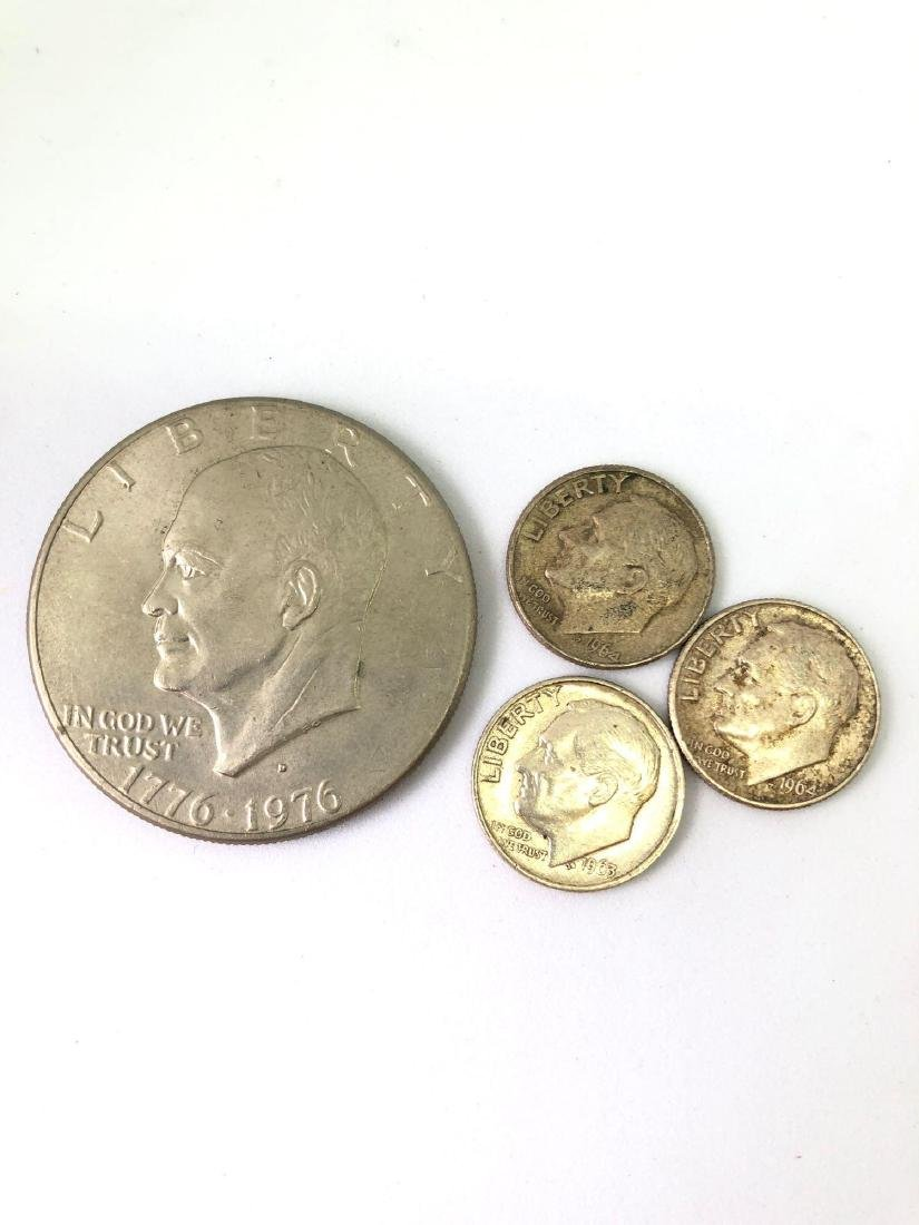 Lot of Four United States Coins 1963 - 1976