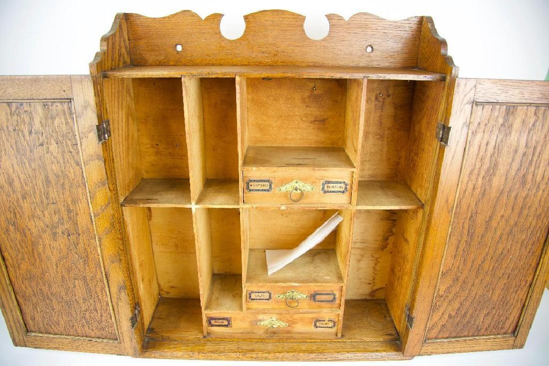 Antique Hanging Medicine/Condiments Cabinet - 3