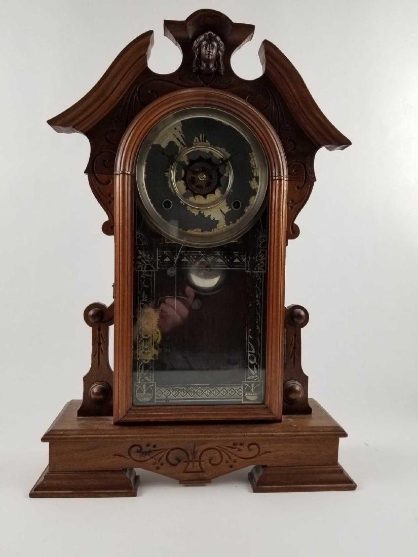 Antique Waterbury Clock Company Mantle Shelf Clock