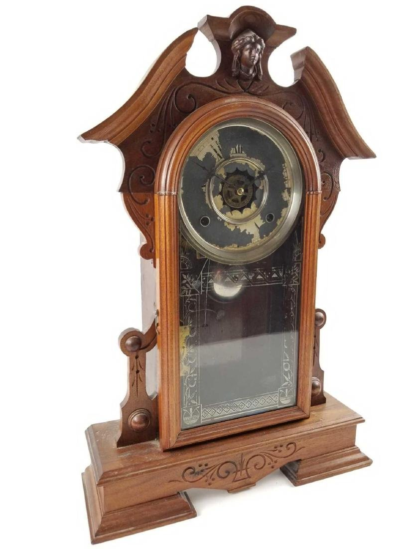 Antique Waterbury Clock Company Mantle Shelf Clock - 2
