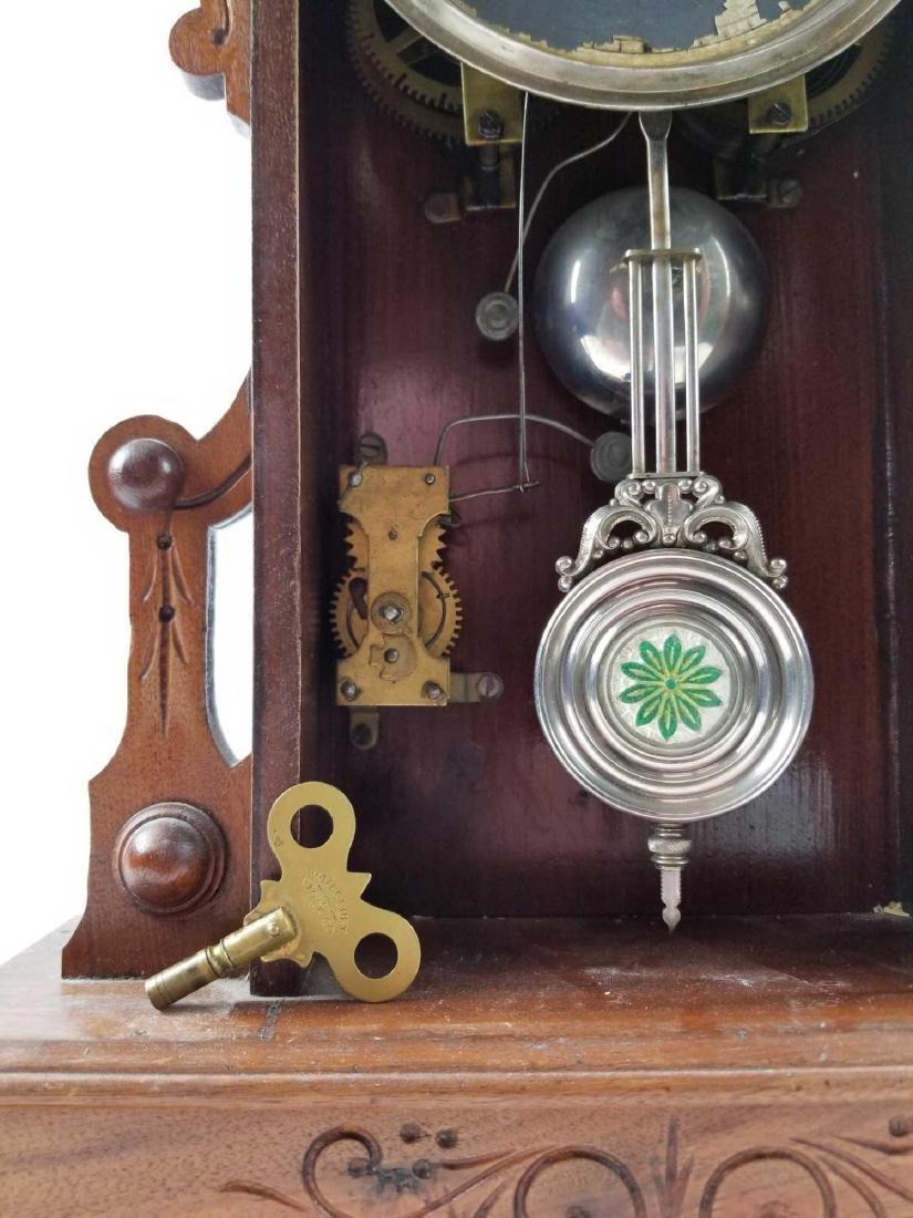 Antique Waterbury Clock Company Mantle Shelf Clock - 5
