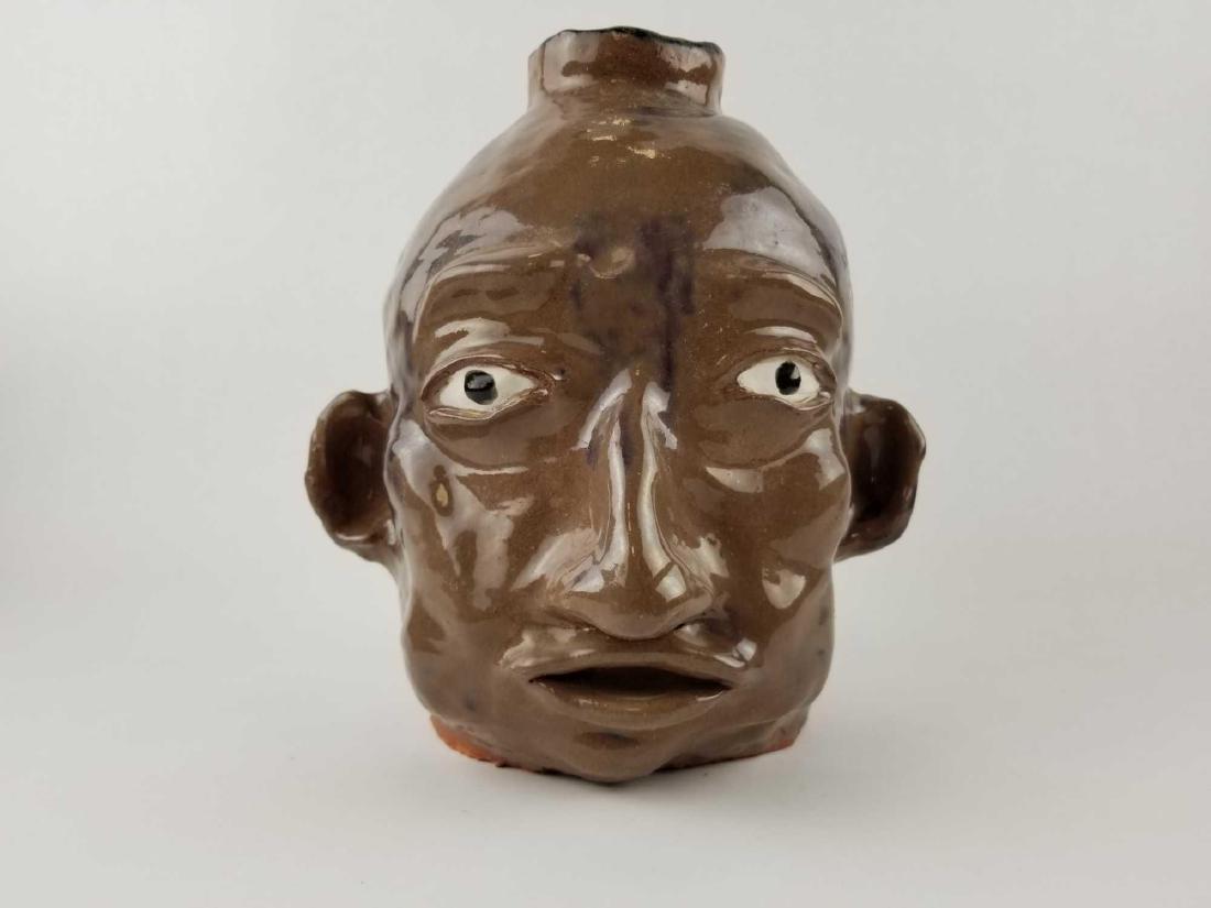 Folk Art Face Jug