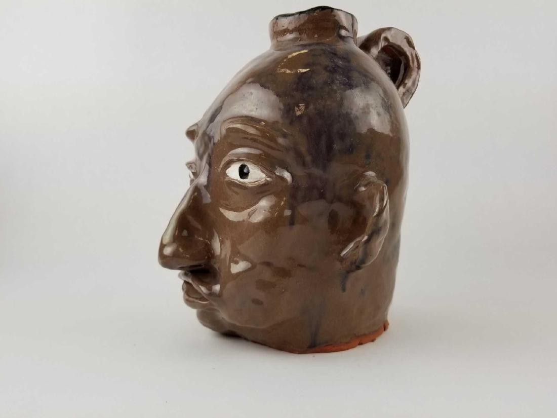 Folk Art Face Jug - 2