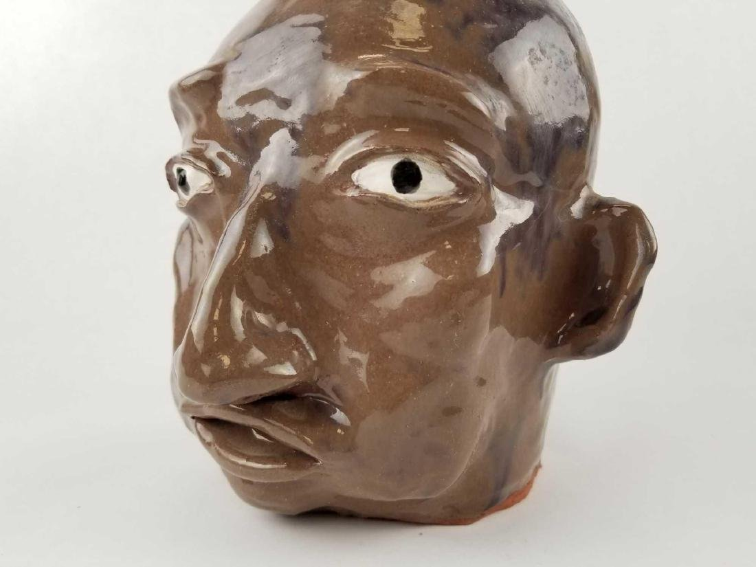 Folk Art Face Jug - 5