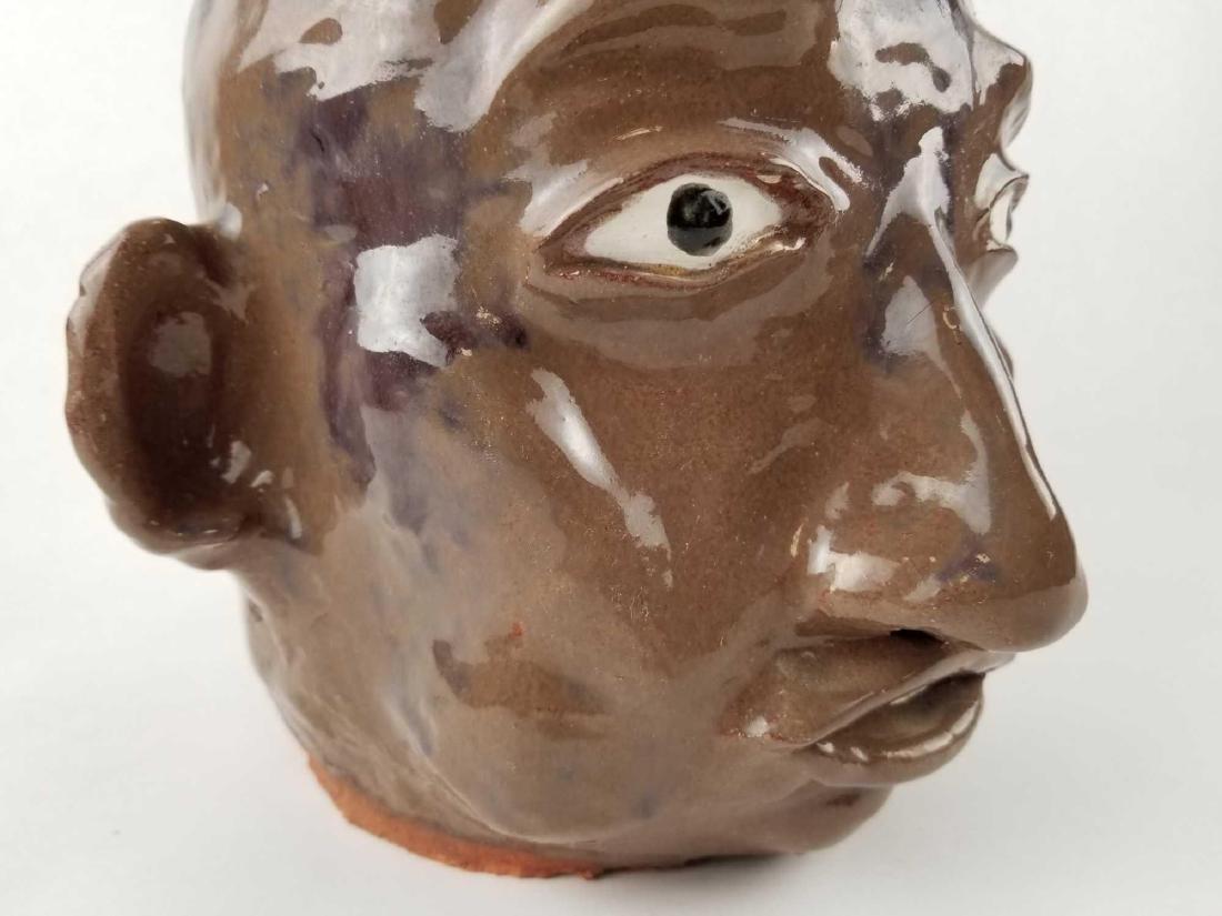 Folk Art Face Jug - 6