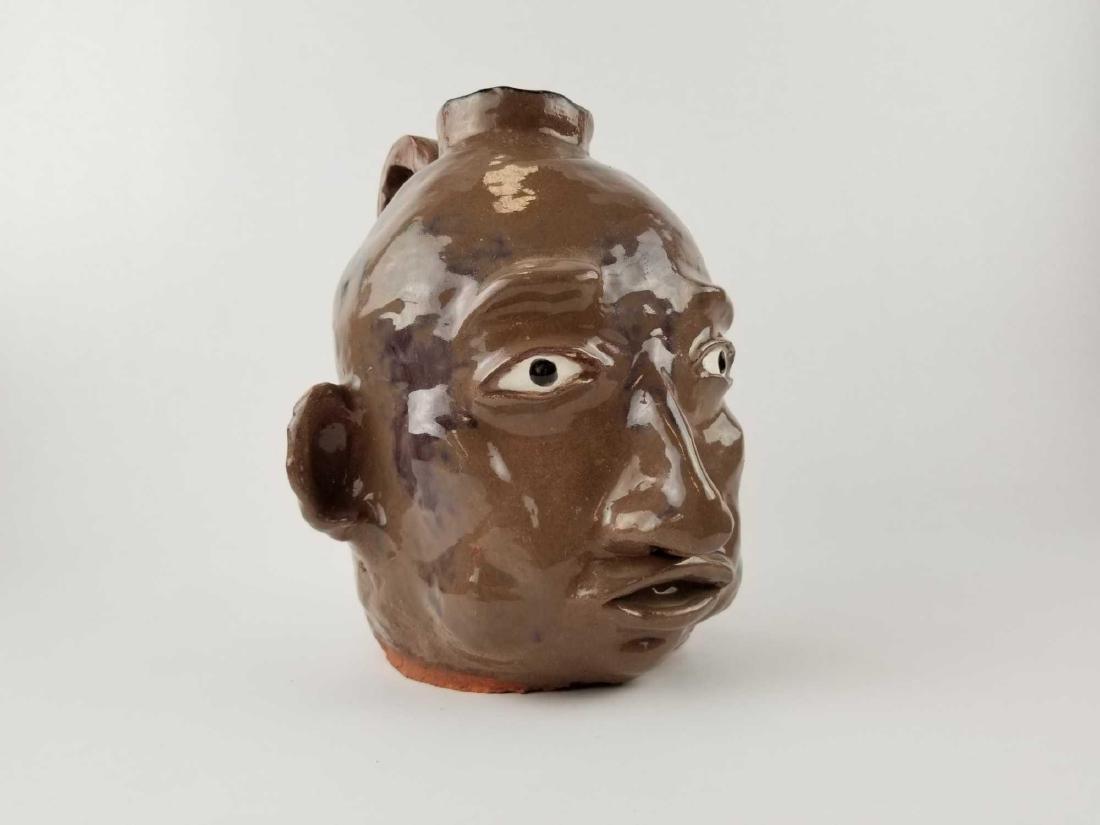 Folk Art Face Jug - 7