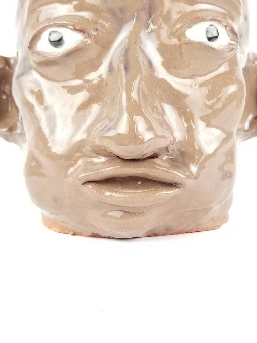 Folk Art Face Jug - 8