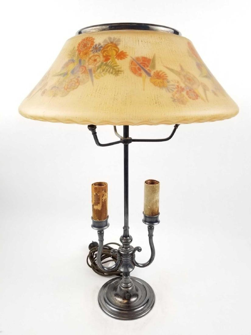 Pairpoint D3091 Lamp with Semi-Puffed Shade