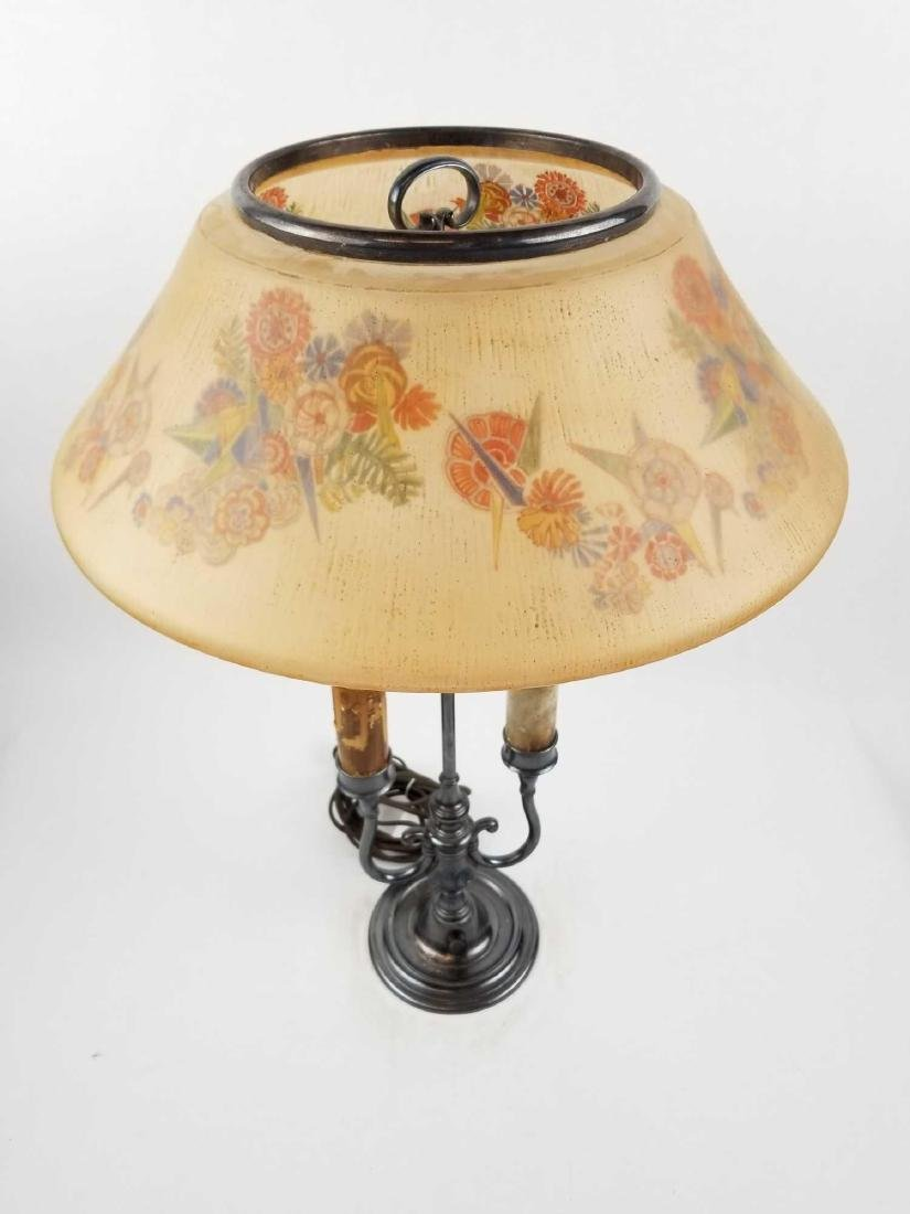 Pairpoint D3091 Lamp with Semi-Puffed Shade - 2