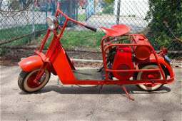 Vintage Cushman Scooter 1956, Red