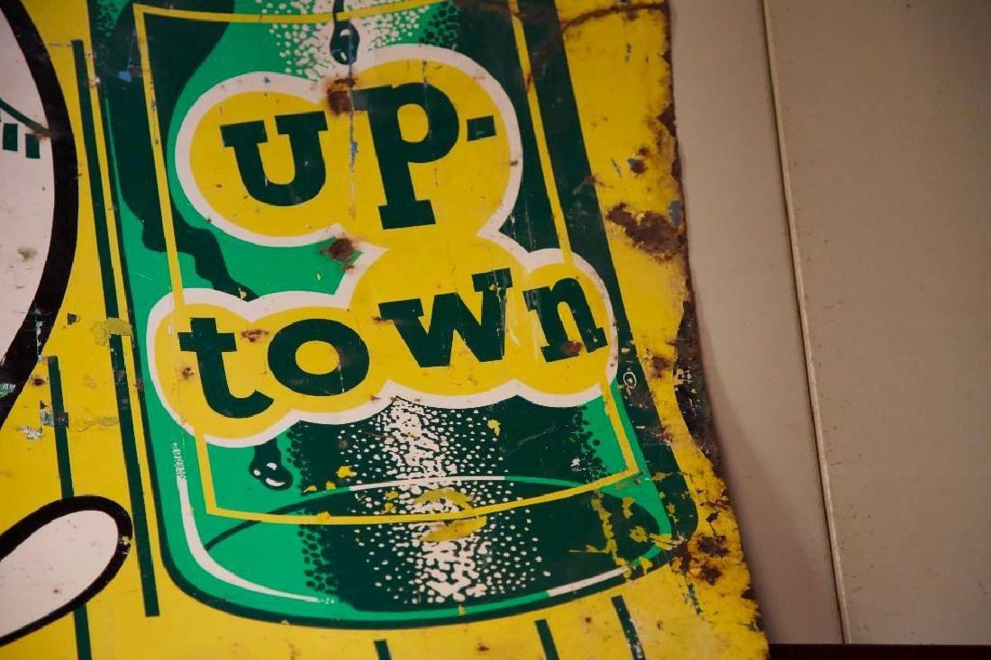 One Sided Up-Town Soda Advertising Sign (Half) - 5