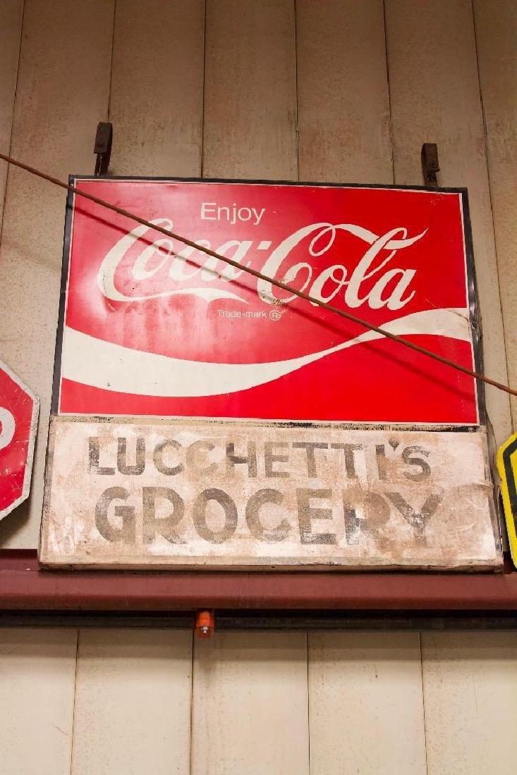 Vintage Metal Coca Cola Sign