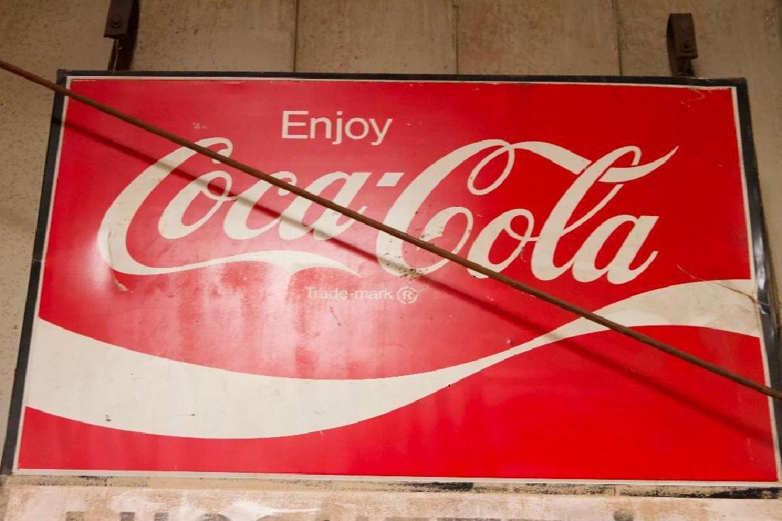 Vintage Metal Coca Cola Sign - 3