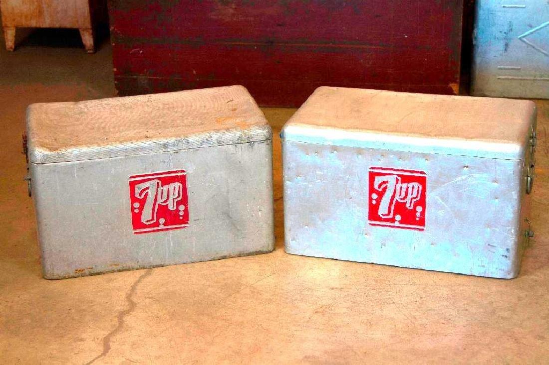 Vintage Mid Century 7Up Coolers
