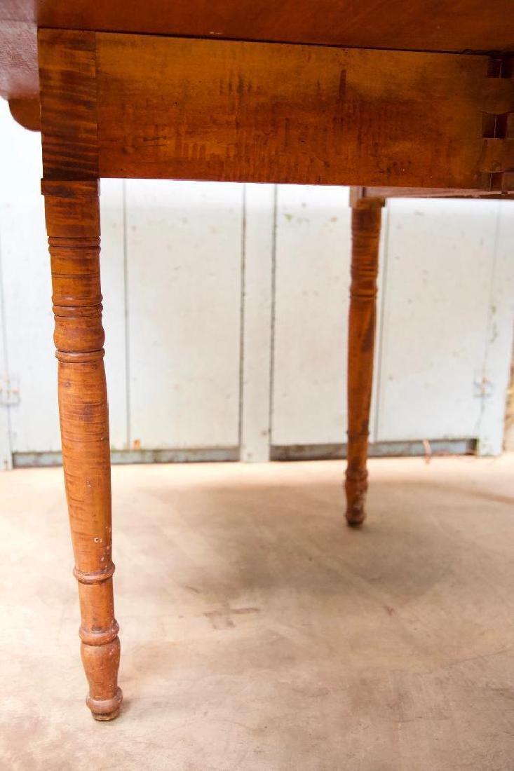 Tiger Maple Drop Leaf Gate Leg Table - 5