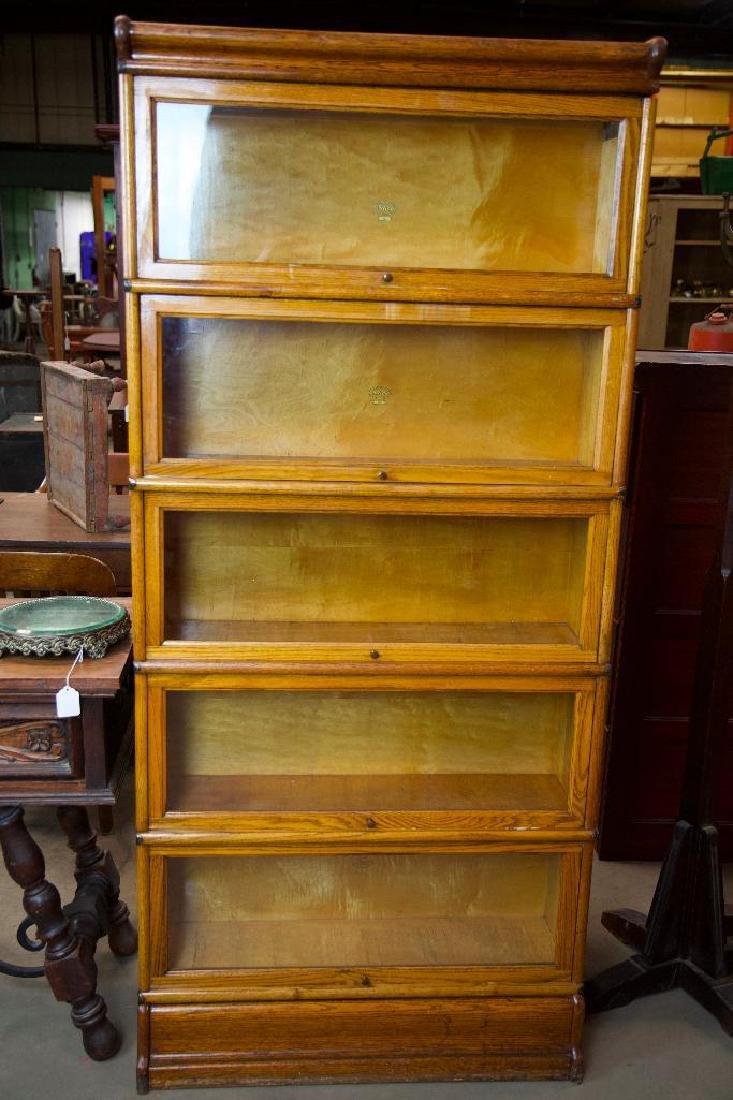 Antique Oak Barrister Bookcase