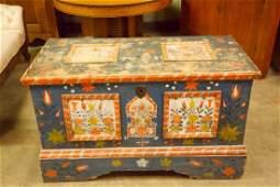 Antique Pennsylvania Dutch Painted Dower Chest