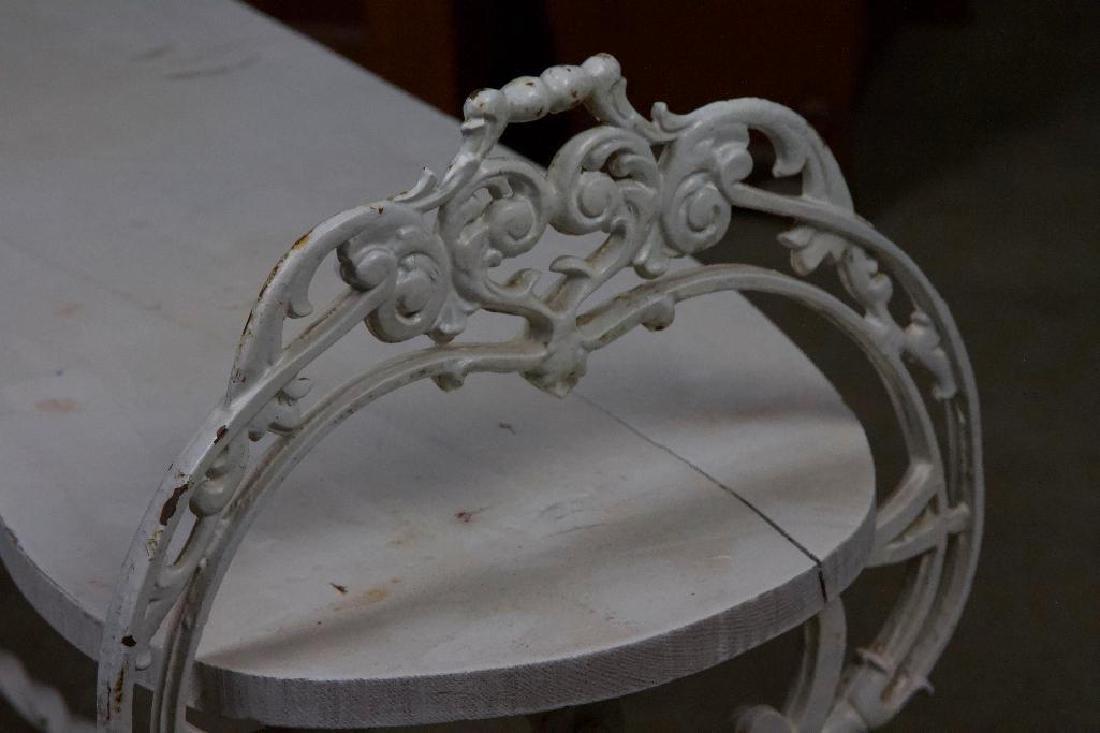 Victorian Cast Iron Bench - 3