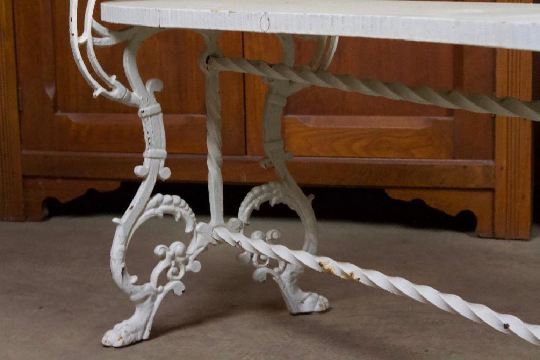 Victorian Cast Iron Bench - 4