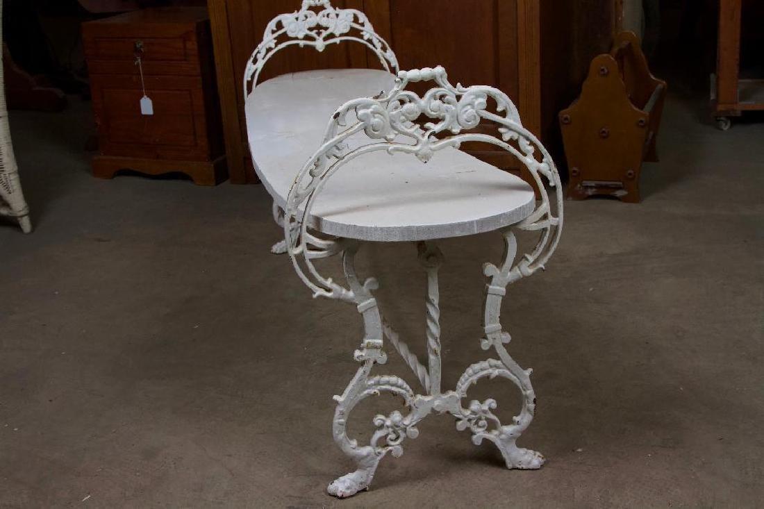 Victorian Cast Iron Bench - 5