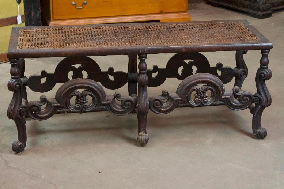 Victorian Bench with Woven Top