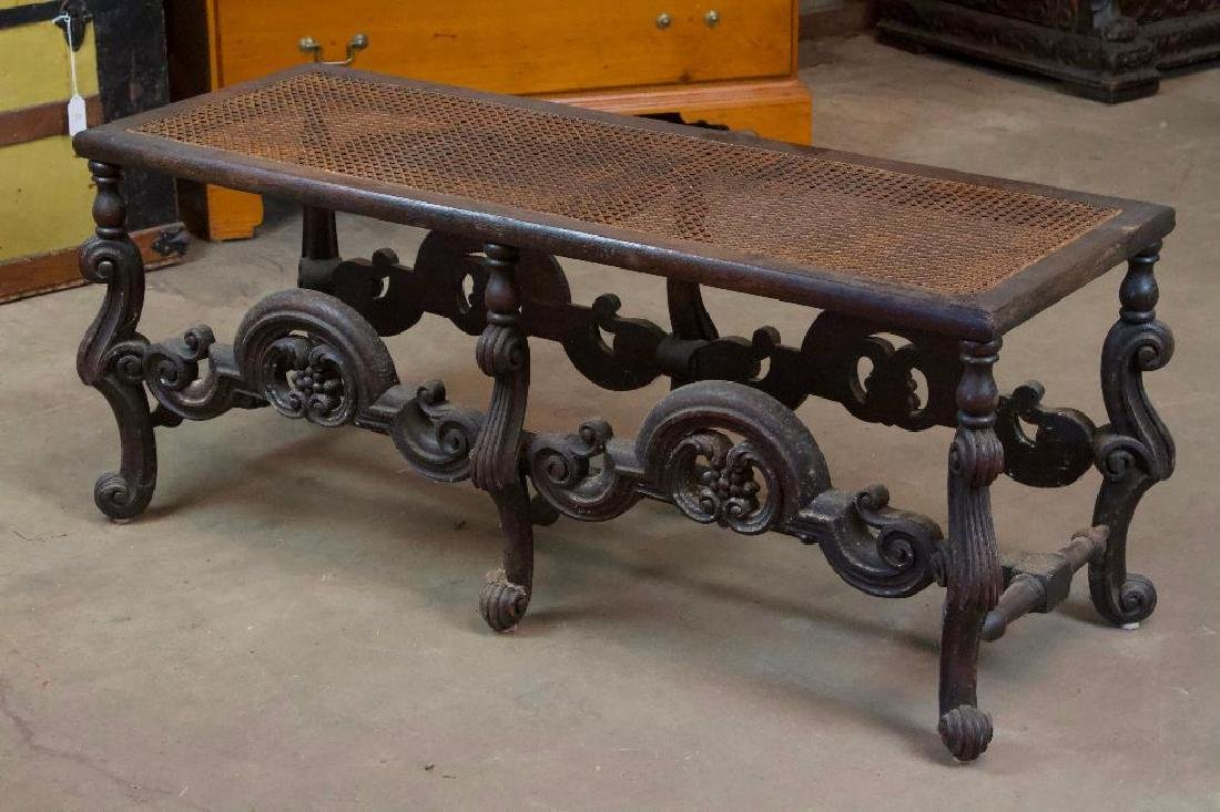 Victorian Bench with Woven Top - 2