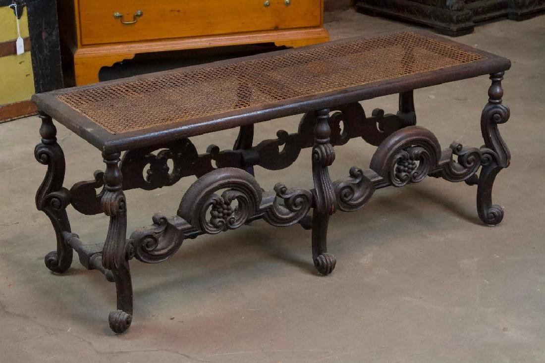 Victorian Bench with Woven Top - 3