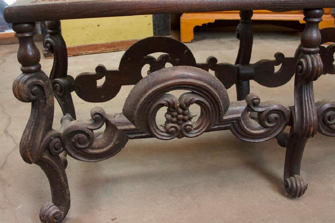 Victorian Bench with Woven Top - 4