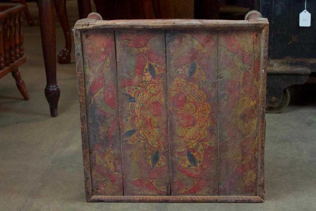 Antique low folk art Stand