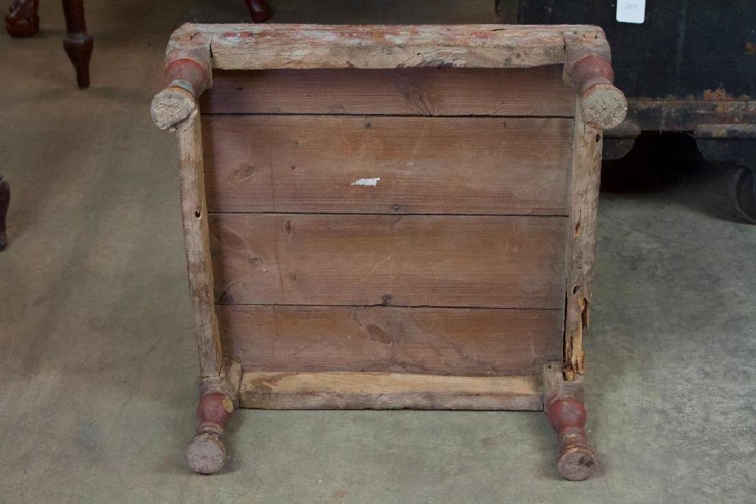 Antique low folk art Stand - 5