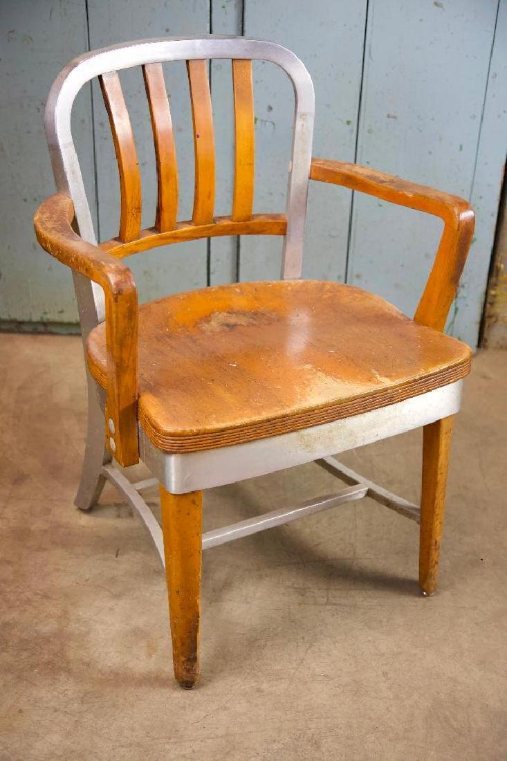 Vintage Aluminum and Wood Chair