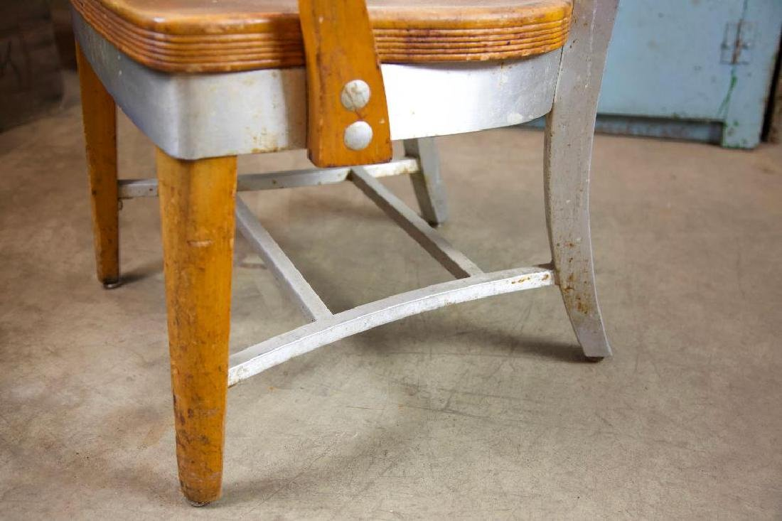 Vintage Aluminum and Wood Chair - 3