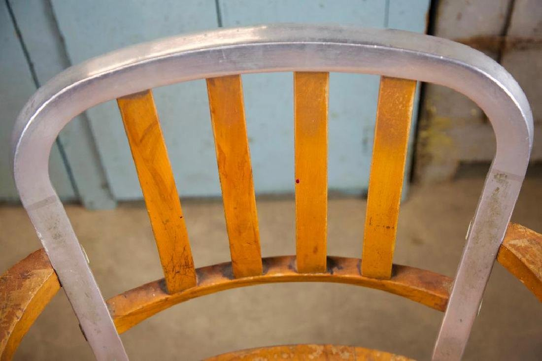 Vintage Aluminum and Wood Chair - 5