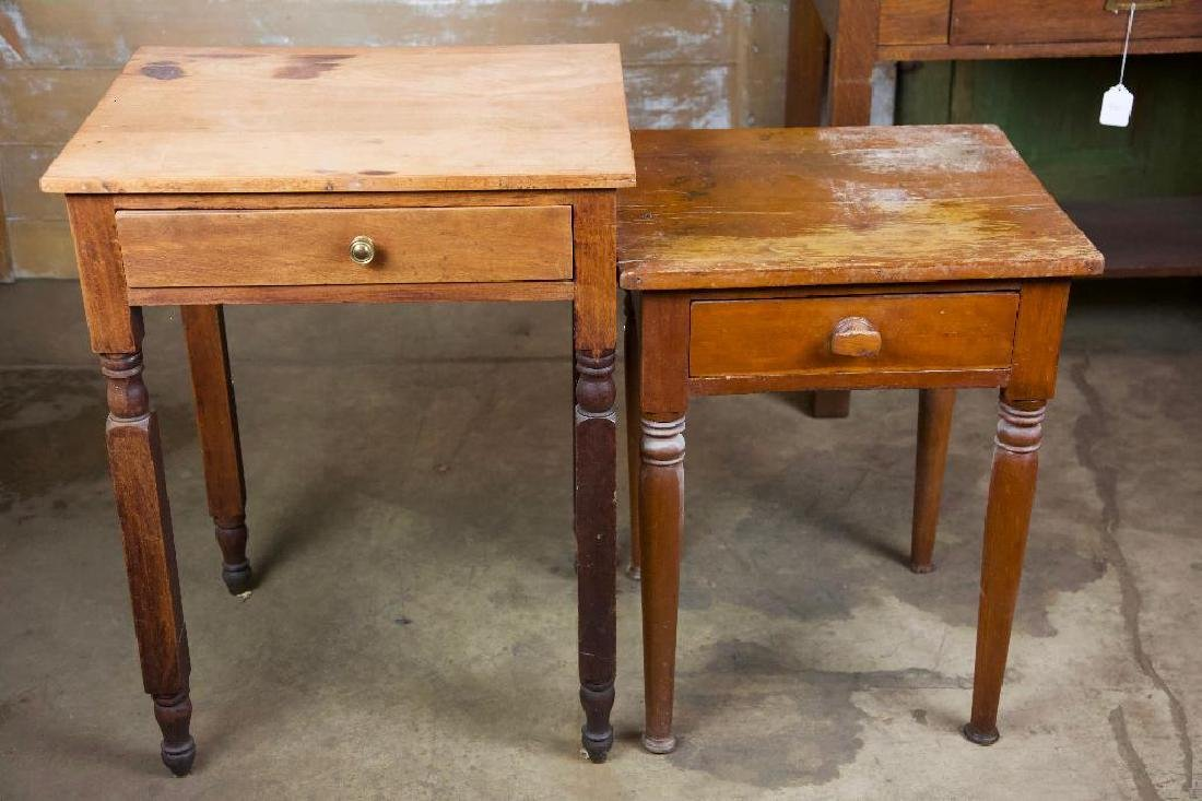 Pair of Rustic Antique Side Tables