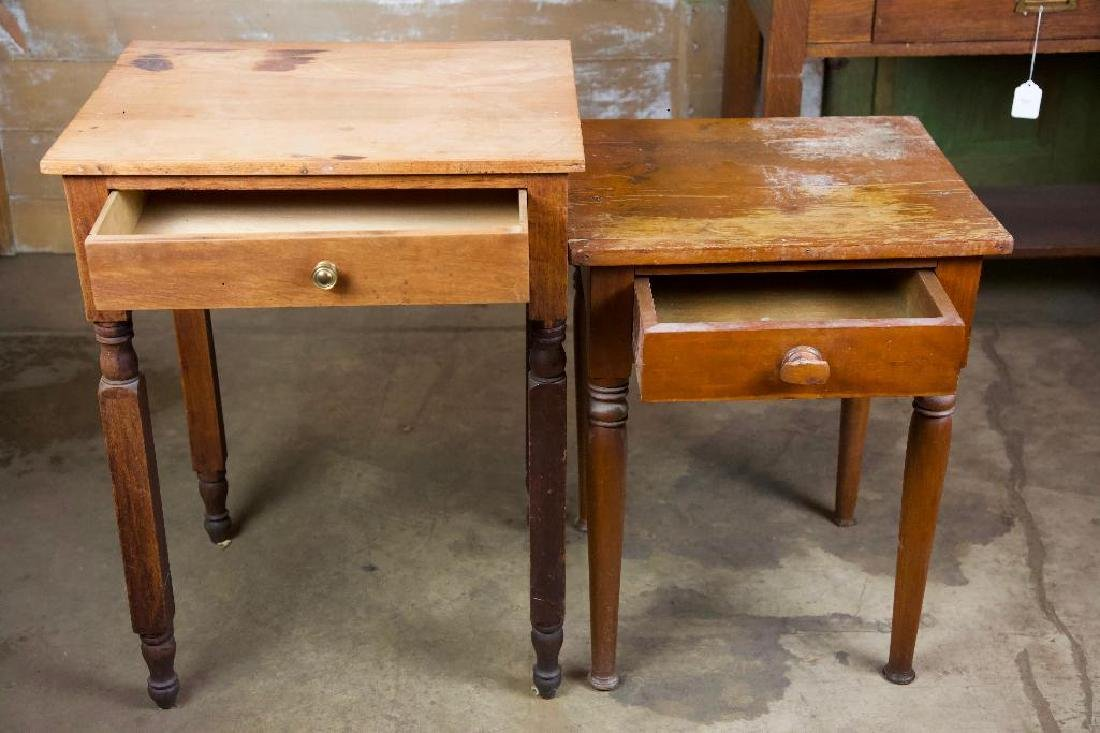 Pair of Rustic Antique Side Tables - 2