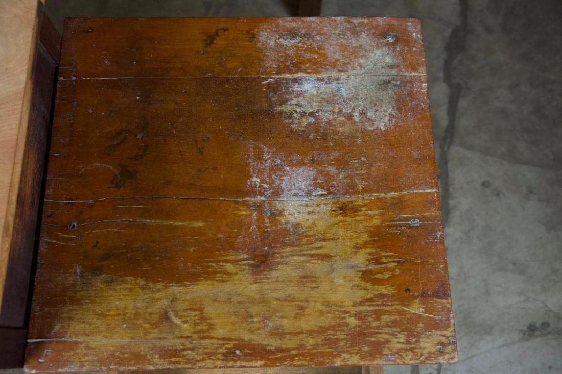 Pair of Rustic Antique Side Tables - 5