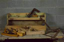 Antique Woodworking Tools with Chest