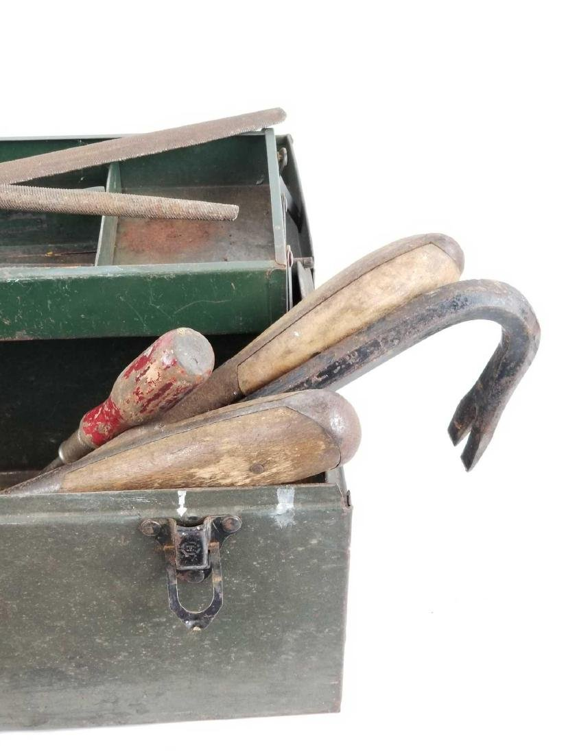 Antique Tool Box with Tools - 3