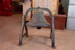 Black Fredrickstown Cast Iron Bell with Stand