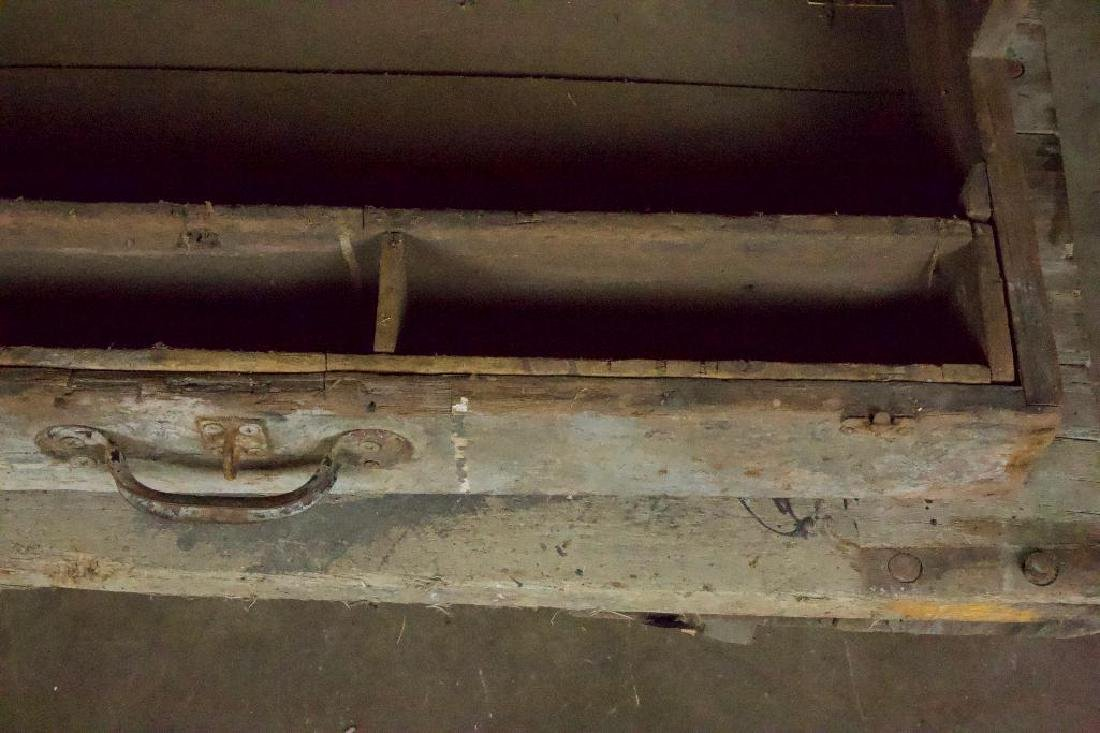 Pair of Rustic Tool Trunks - 3