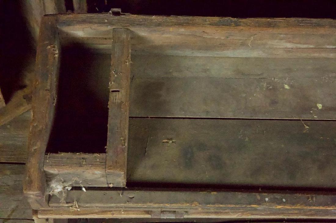 Pair of Rustic Tool Trunks - 4