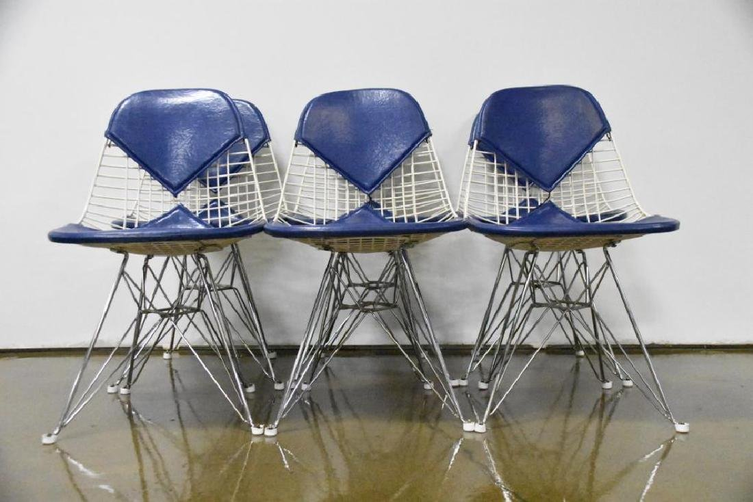 Six Charles Eames for Herman Miller Wire Side Chairs