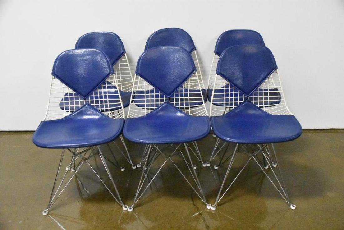 Six Charles Eames for Herman Miller Wire Side Chairs - 2
