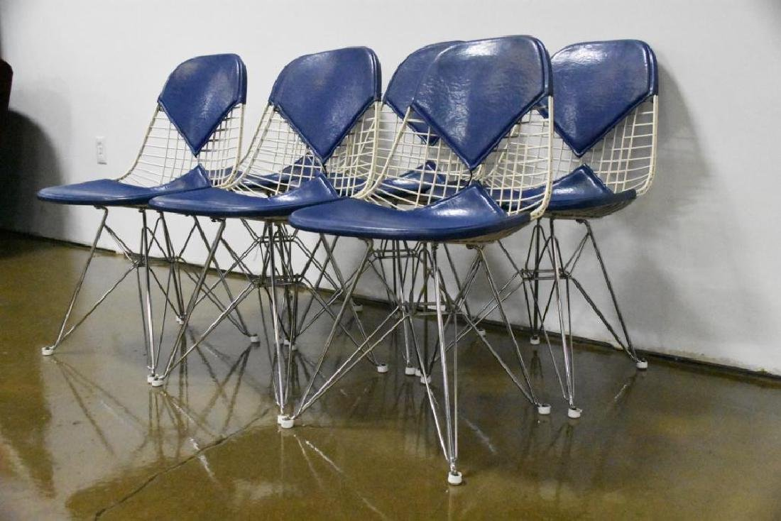Six Charles Eames for Herman Miller Wire Side Chairs - 3